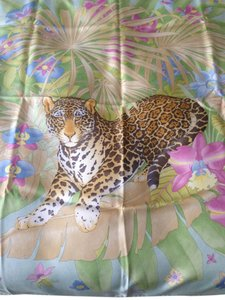 Salvatore Ferragamo Salvatore Ferragamo Animal Print Silk Scarf