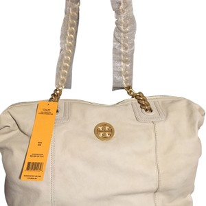 Tory Burch Tote in Fossil - White