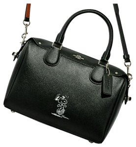 c65f5f146c12 Coach Limited Edition Bennett Peanuts Handbag Satchel in Black