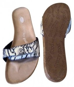 Dr. Scholl's Black/white zebra print Sandals