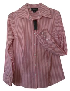 Attention Shirt Long Sleeves Small Stripes Button Down Shirt Multi-color