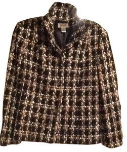 Talbots Black/tan multi Jacket