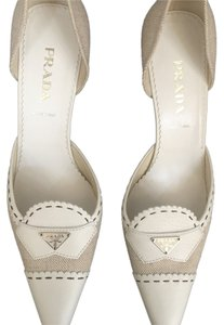 Prada White/ Beige Pumps
