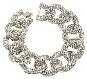 "Real Collectibles by Adrienne Real Collectibles by Adrienne ""Classic"" Pav Crystal Curb-Link Bracelet"