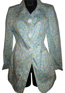 Liz Claiborne Blue Brown Green White Blazer