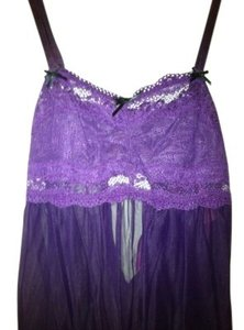 Betsey Johnson Lingerie With Thong Soft Small New Lovely Sweet Top Purple