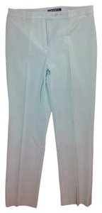 Theory Button Tab Waistband Straight Pants Grey