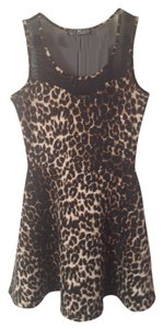 Almost Famous short dress Leopard print A-line on Tradesy