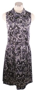 Ann Taylor Navy Floral Swirl Dress