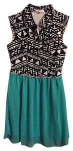Love, Fire short dress Teal on Tradesy