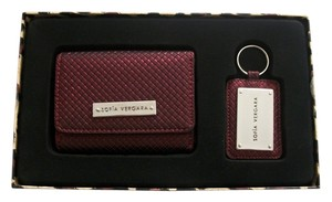 Sofia by Sofia Vergara Burgandy Wrislet /Wallet Key Ring Gift Set By Sofia Vergara