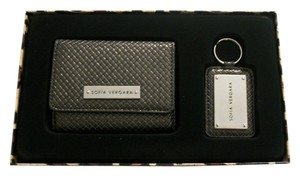 Sofia by Sofia Vergara Wallet Key Ring Gift Set By Sofia Vergara Metallic Silver