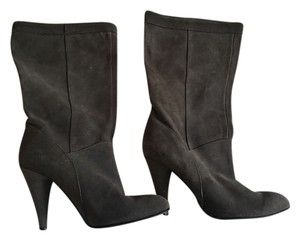 N.Y.L.A. Mid-calf Leather Grey Boots