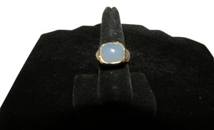 David Yurman David Yurman Noblesse Collection - Aqua Chalcedony SS/14k Yellow Gold Ring, Size 7.5