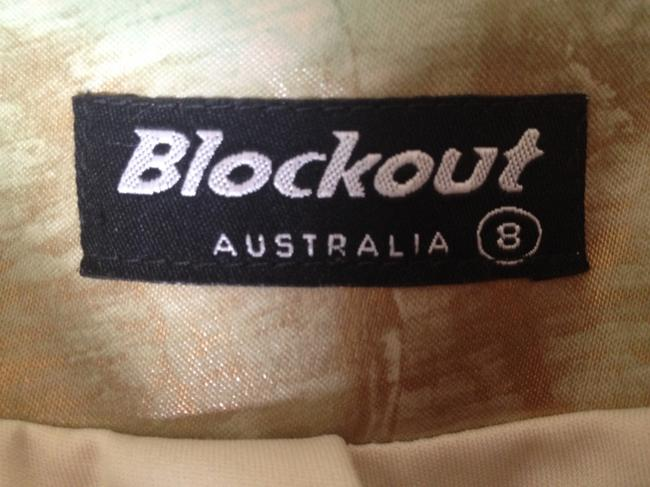 Blockout (Australia) Fitted Metallic Australia Top Gold wash