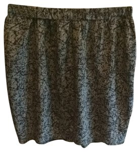 Silence + Noise Skirt Grey Gray Patterned Black