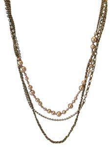 J.Crew J.Crew Multi Chain Pearl and Crystal Necklace