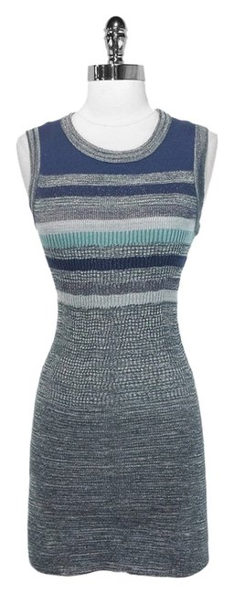 Chanel short dress Blue/Metallic Cotton Nylon Viscose Polyester on Tradesy