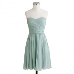 J.Crew Dusty Shale Chiffon Arabelle Formal Bridesmaid/Mob Dress Size 4 (S)