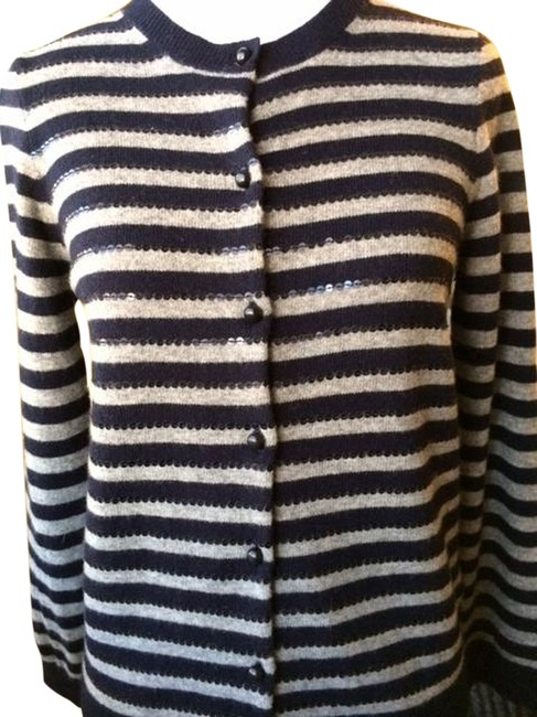 J.Crew Sequin Cashmere Striped Sweater
