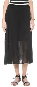 Club Monaco Accordian Midi Midi Skirt Black