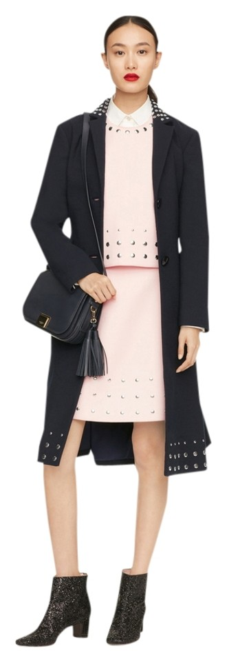 31d54334a64 Kate Spade Navy Blue Madison Avenue Collection Wool Studded Jacket ...