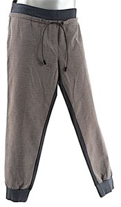 Fabiana Filippi Sport Pant Relaxed Pants Taupe & Charcoal