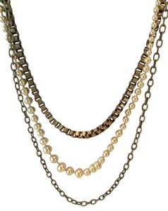 J.Crew J.Crew Multi Chain Pearl Necklace