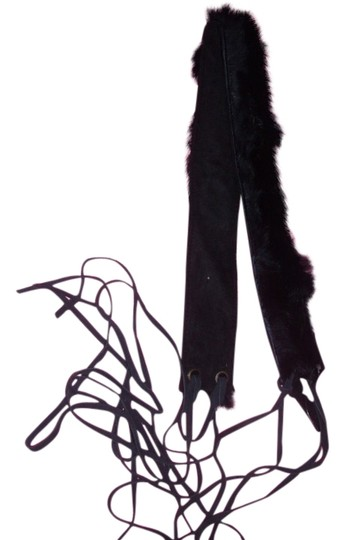 Other 70s inspired fur suede belt hippie fringe bohemian one size fits all