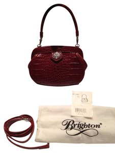 Brighton Oxblood Clutch