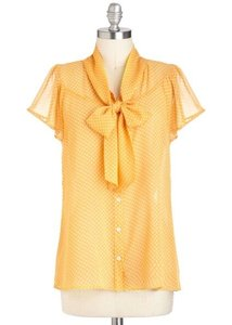 Modcloth Top Yellow