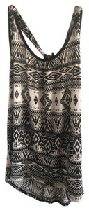 Chocolate Handbags And Tribal Top Black & White