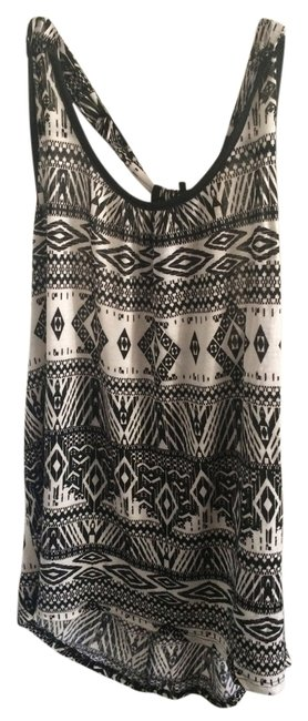 Item - Black & White And Tribal Tank Top/Cami Size 12 (L)