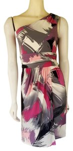 Max and Cleo short dress Gray One Shoulder Pinkm Slinky on Tradesy