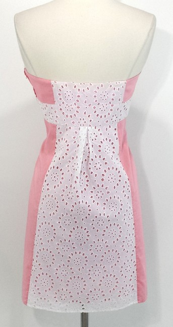 Betsey Johnson short dress Pink/White Cotton on Tradesy