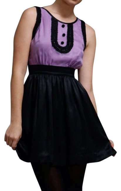 Preload https://img-static.tradesy.com/item/14040913/mint-jodi-arnold-black-lavender-silk-contrast-bib-above-knee-cocktail-dress-size-0-xs-0-1-650-650.jpg