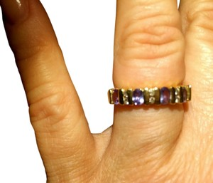 Tanzanite and Diamonds 14k Gold ring