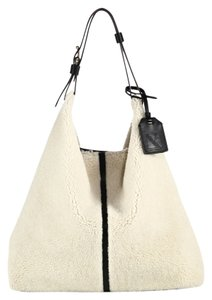 Reed Krakoff Rdk Hobo Rdk Shearling Hobo Shearling Reversible Hobo Satchel in Ivory Cream NWT