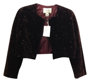 Oscar de la Renta Velvet Jacket Bolero Vintage Chic Sophisticate Classic Night Out Date Night brown Blazer