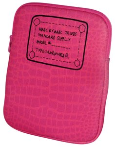 Marc by Marc Jacobs NEW MARC by MARC JACOBS 'Trompe Loeil Croco Print' Tablet ipad Sleeve/pouch Pink