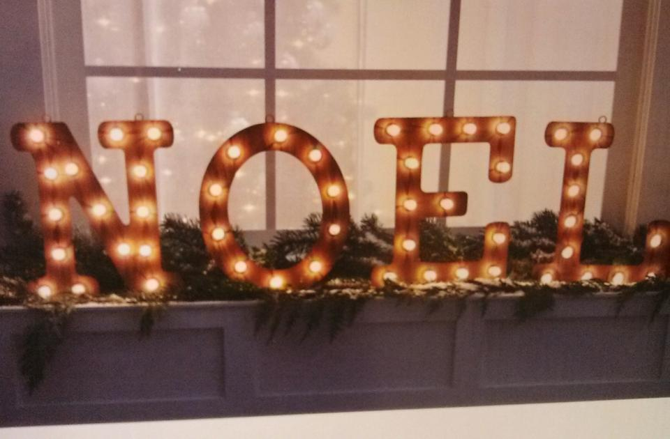 noel lighted marquee sign letters light up sign holiday reception decoration