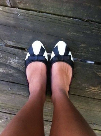 Love Culture Tuxedo And White Bow Flats