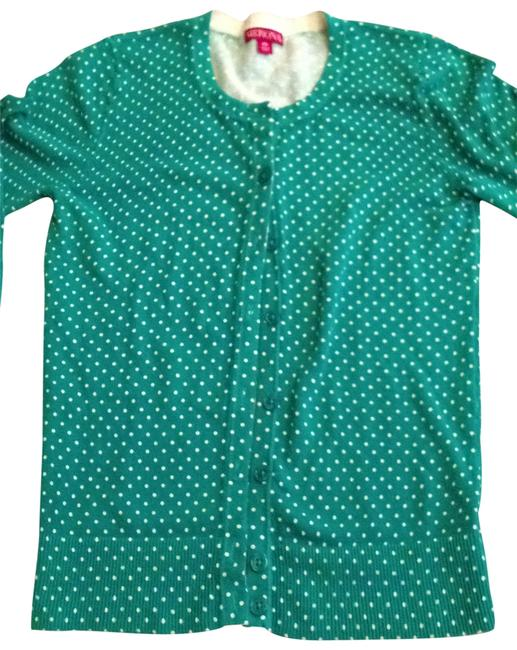 Preload https://item1.tradesy.com/images/merona-kelly-green-with-white-polka-dots-cute-button-down-cardigan-sweaterpullover-size-petite-2-xs-140460-0-0.jpg?width=400&height=650
