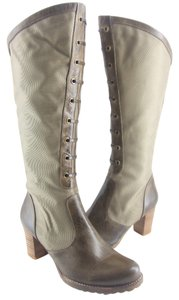 Antelope Olive Mesh & Leather Boots
