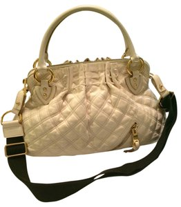 Marc Jacobs Handbag Leather Crossbody Quilted Tan Beige Louis Vuitton Tory Burch Coach Gucci Prada Chanel Balenciaga Valentino Satchel in Beige Tan
