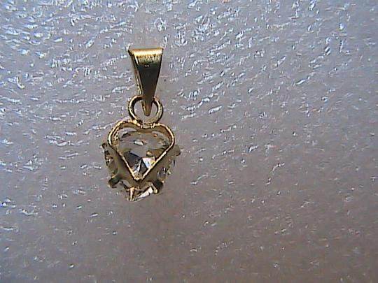 Unknown 14k Yellow Gold Heart Charm Pendant