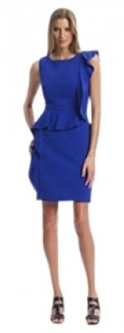 Preload https://item4.tradesy.com/images/calvin-klein-blue-shoulder-to-hem-cascading-ruffle-asymmetrical-sheath-women-s-knee-length-cocktail--140488-0-0.jpg?width=400&height=650