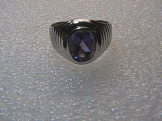 Unknown 925 Sterling Silver 2.8 Carats Oval Cut Amethyst Ring