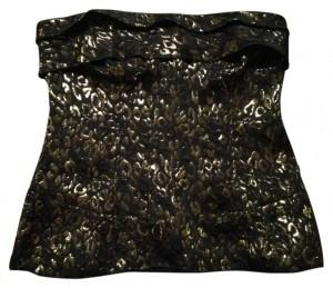 Moda International Top Black and Gold