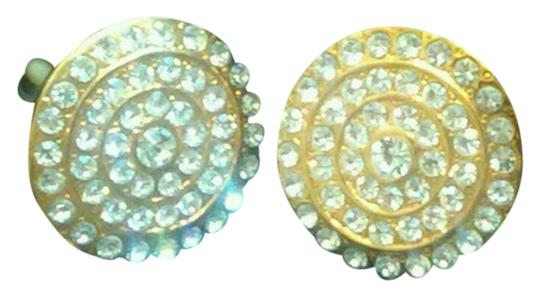 Other Gold Rhinestone Clip Ons